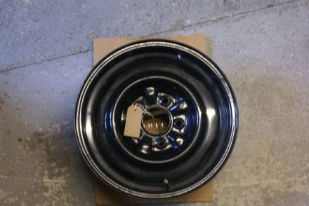 "Chevrolet PCD Steel Wheel,15""x5.5""-3.75"" Back Space,Black Powder Coated,Used Very Good Condition"